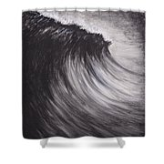 Black And White Wave Guam Shower Curtain