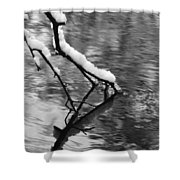 Black And White Winter Mood Shower Curtain