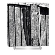 Black And White Wood Texture Shower Curtain