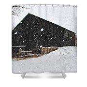 Black Barn II Shower Curtain