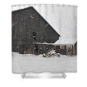Black Barn IIi Shower Curtain