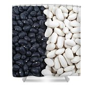 Black Beans And White Beans Shower Curtain