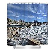 Black Bear Lake Camp - Sierra Shower Curtain