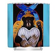 Black Bear Seraphim Shower Curtain
