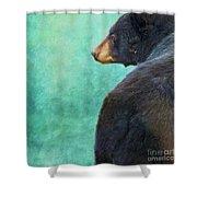 Black Bear's Bum Shower Curtain