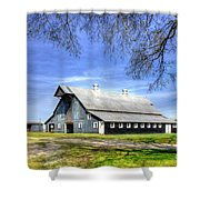 White Windows Historic Hopkinsville Kentucky Barn Art Shower Curtain