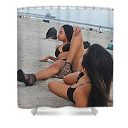 Black Bikinis 10 Shower Curtain