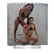 Black Bikinis 19 Shower Curtain