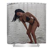 Black Bikinis 24 Shower Curtain