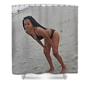Black Bikinis 25 Shower Curtain