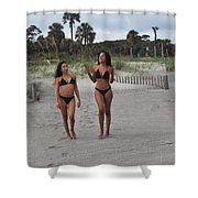 Black Bikinis 29 Shower Curtain