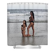 Black Bikinis 33 Shower Curtain