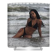 Black Bikinis 35 Shower Curtain