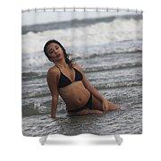 Black Bikinis 36 Shower Curtain