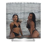 Black Bikinis 38 Shower Curtain