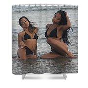 Black Bikinis 39 Shower Curtain