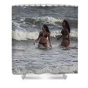 Black Bikinis 41 Shower Curtain
