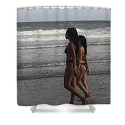 Black Bikinis 43 Shower Curtain