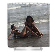Black Bikinis 48 Shower Curtain
