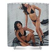 Black Bikinis 5 Shower Curtain