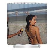 Black Bikinis 50 Shower Curtain