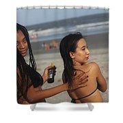 Black Bikinis 51 Shower Curtain