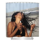 Black Bikinis 54 Shower Curtain