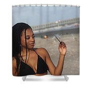 Black Bikinis 55 Shower Curtain
