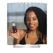Black Bikinis 58 Shower Curtain