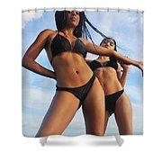 Black Bikinis 66 Shower Curtain