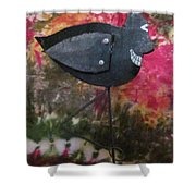 Black Bird Shower Curtain