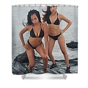Black Bkinis 3 Shower Curtain