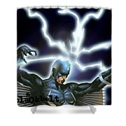 Black Bolt Shower Curtain
