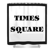 Black Border Times Square Shower Curtain