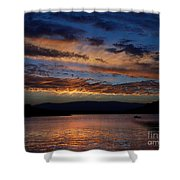 Black Butte Sunset Shower Curtain