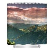 Black Canyon 2 Shower Curtain