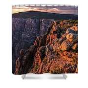 Black Canyon Sunset Glow Shower Curtain