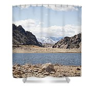 Black Canyon View - Pathfinder Reservoir - Wyoming Shower Curtain