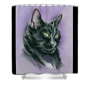 Black Cat Sith Shower Curtain by MM Anderson
