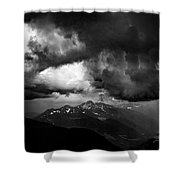Black Cluods Shower Curtain