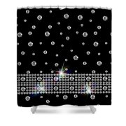 Black Diamonds Jewelry Art Shower Curtain