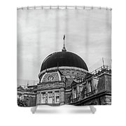 Black Dome Shower Curtain
