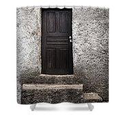 Black Door Shower Curtain