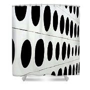 Black Dots Shower Curtain
