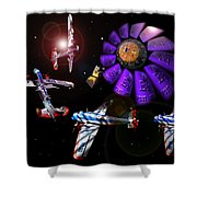 Black Dwarf Shower Curtain
