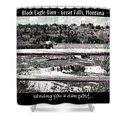 Black Eagle Dam Shower Curtain