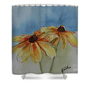 Black Eyed Susan Duet Shower Curtain