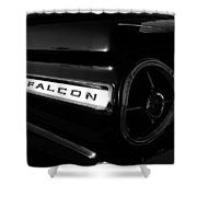 Black Falcon Shower Curtain by David Lee Thompson