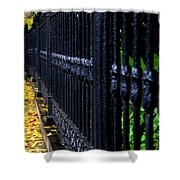 Black Fence Shower Curtain
