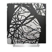 Black Forest Shower Curtain